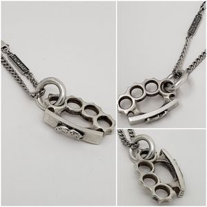 King Baby Studio Brass Knuckles Necklace